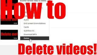How to delete a youtube video 2017! HD