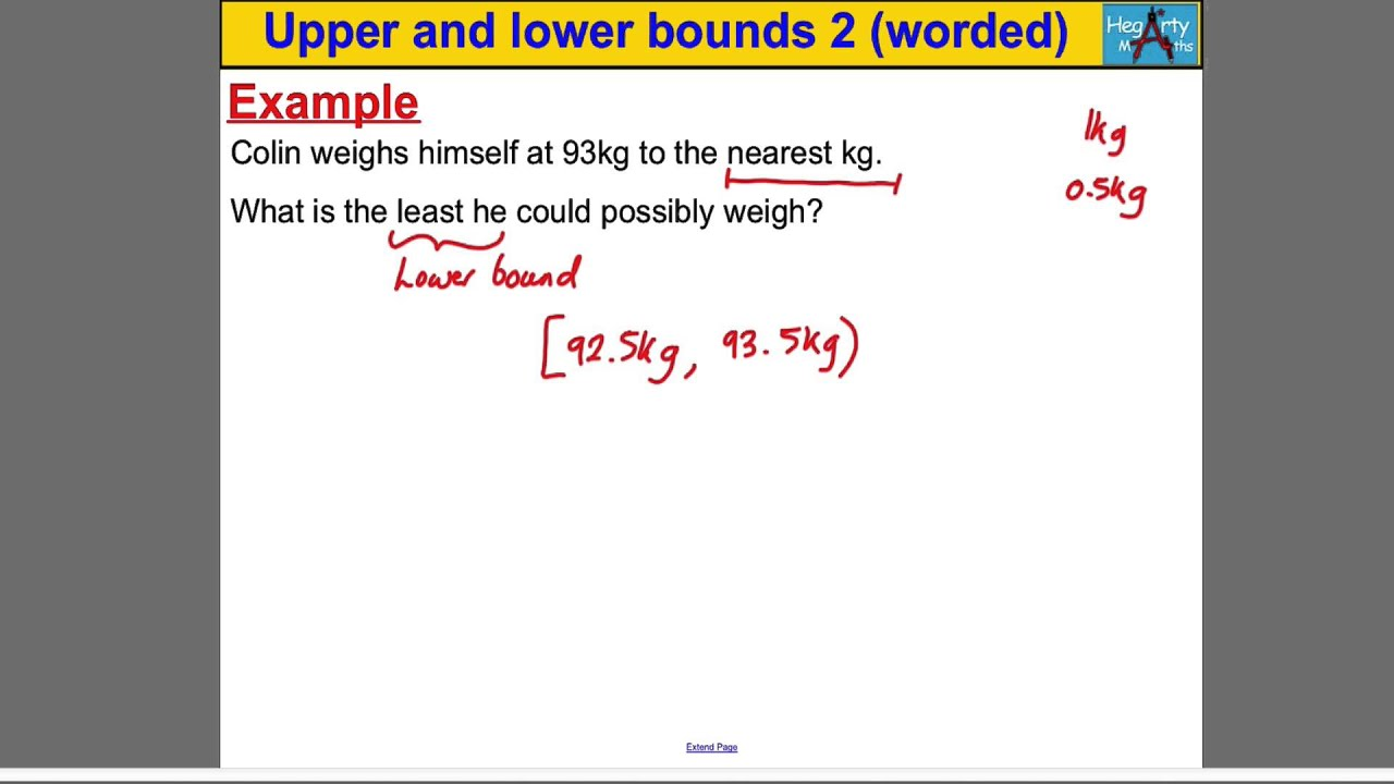 Upper Amp Lower Bounds 2 Worded Problems