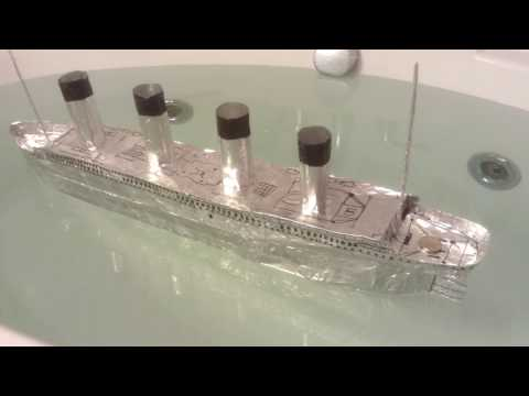 The Sinking of the Gigantic (Aluminum Foil Model Ship)
