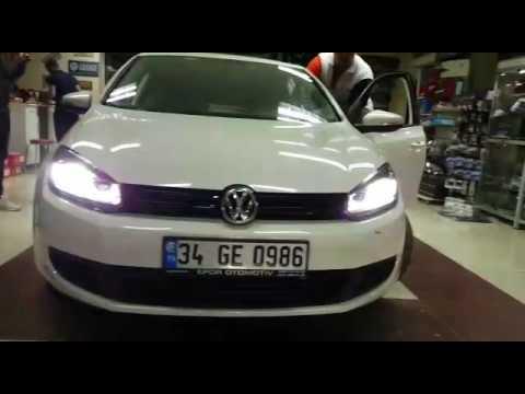 Volkwagen Golf 6 Mk6 Kayar Sinyalli çift U Led Far Montaji Youtube