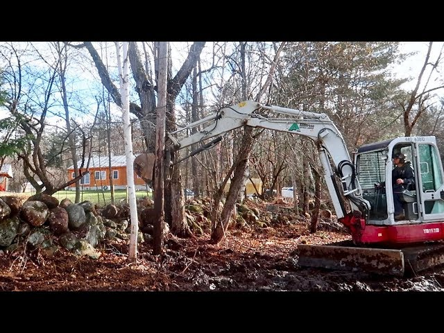 I Hope this Goes WELL! Trying to  Removing A Utility Pole with an Excavator