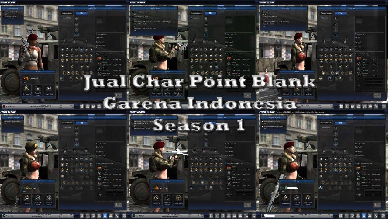 Jual Char Point Blank Garena Indonesia Season 1