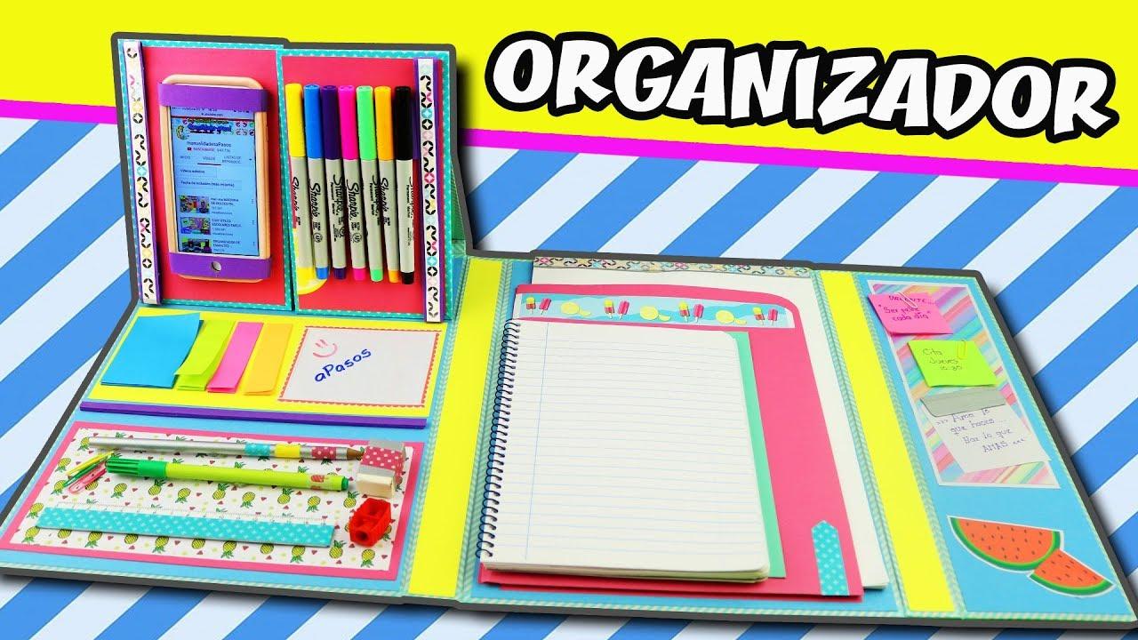 Organizador regreso a clases diy carpeta manualidades for Una puta con horario de oficina