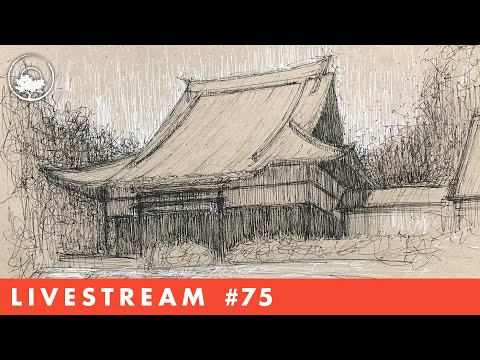 drawing-architecture-in-pen-&-ink---livestream-#75