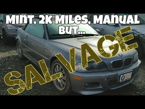 MINT E46 BMW M3 Manual with ONLY 2,000 Miles at the Salvage Auction? *Mysterious*