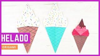 🍦 Cómo hacer helados de papel con origami ¡Fácil!
