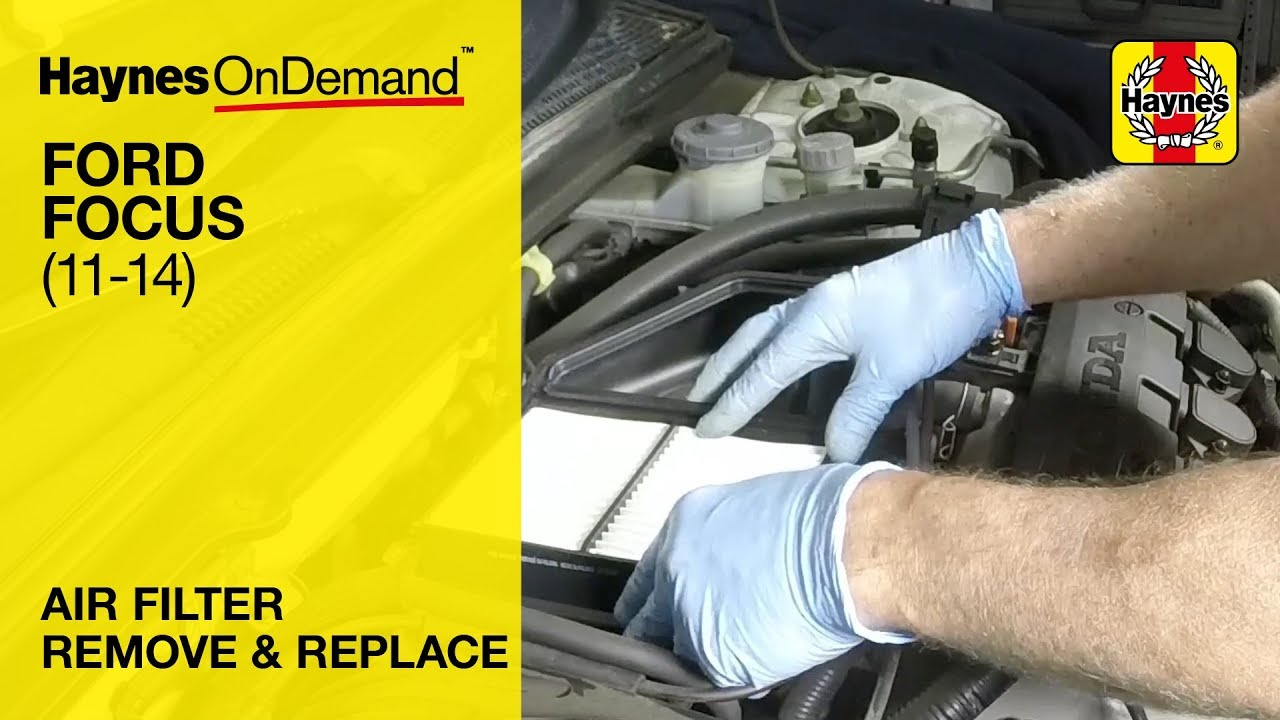 How To Replace The Air Filter On A Ford Focus Mk2 60 To 14 Reg Uk Models 2005 2011 Youtube