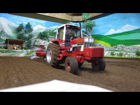 TRACTOR  International Harvester In Action - Farming With Tractor On Power Limit