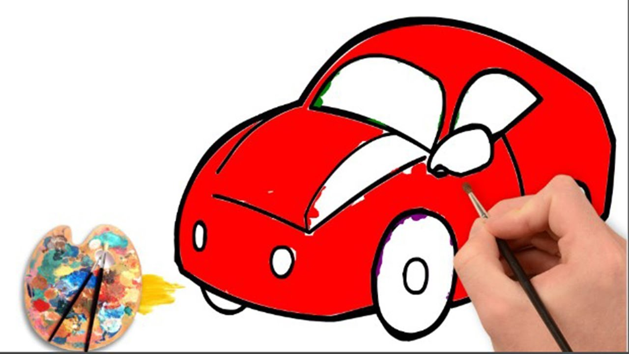 How to draw a car and Coloring | Kids Car Coloring Pages ...