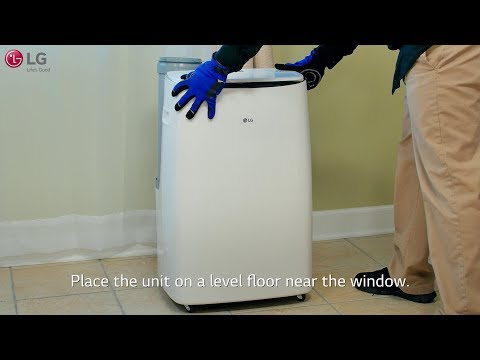 LG Portable Air Conditioner -  Installation (LP14118VGRSM)