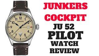 (4K) JUNKERS COCKPIT JU-52 PILOT MEN'S WATCH REVIEW MODEL: 6144-5