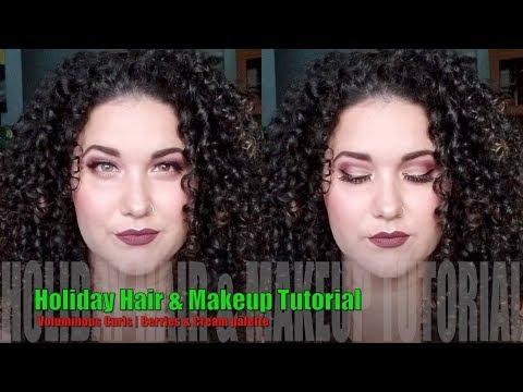 Holiday Hair & Makeup Tutorial | Voluminous Curls | Berries & Cream palette thumbnail
