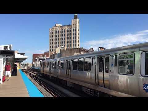 CTA Blue Line trains at Damen/ Milwaukee