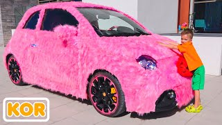 여자를위한 블라드와 니키타 핑크 자동차
