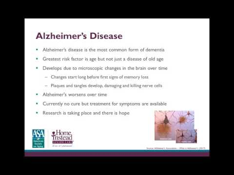Caring for a Loved one With Alzheimer's Professional Caregiver Webinar