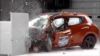 Краш тест Hyundai Solaris Accent Nissan Juke Nissan Leaf Audi A4 Chrysler Town Country смотреть