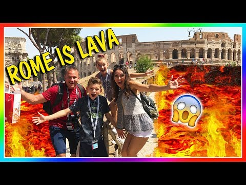 THE GROUND IS LAVA IN ROME! | We Are The Davises