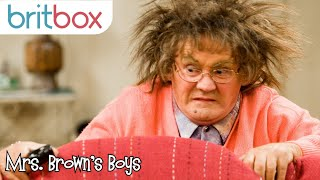 Mrs Brown Accidentally Tazors Herself | Mrs Brown's Boys