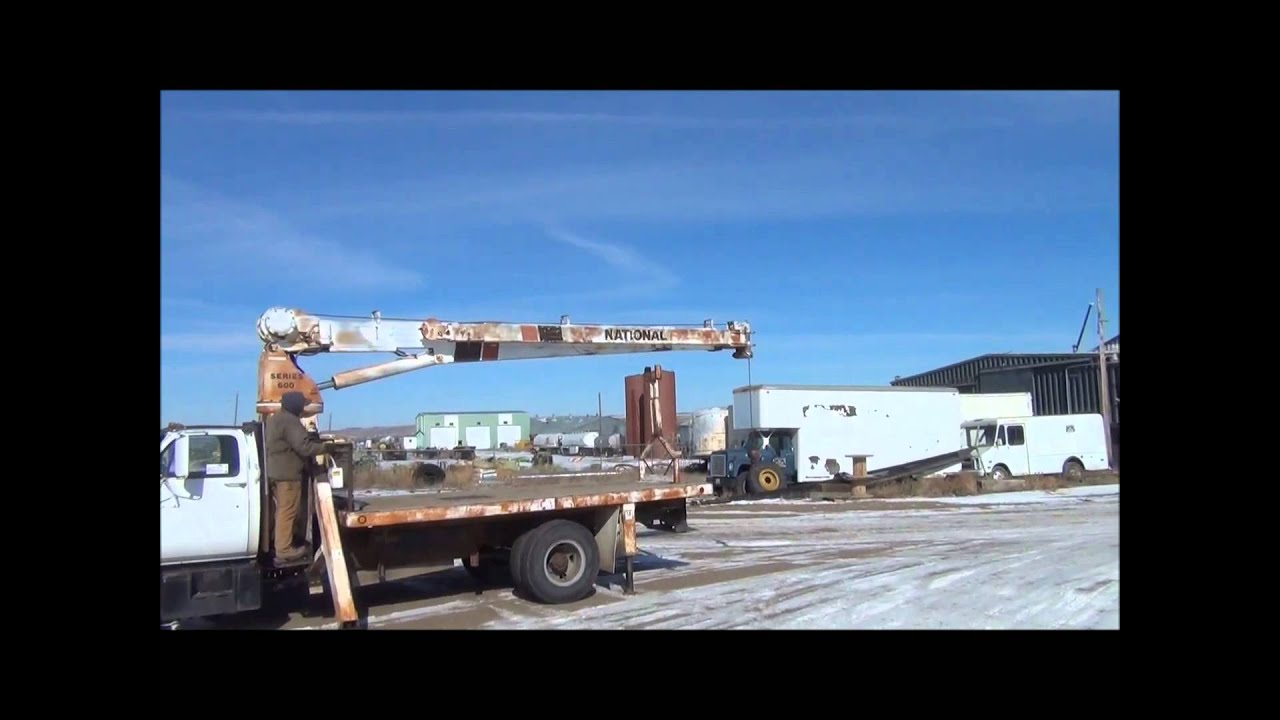 1988 chevrolet 7000 flatbed truck with crane for sale sold at auction march 13 2014
