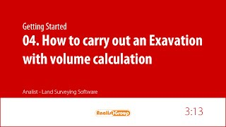 How to carry out an Excavation with volume calculation