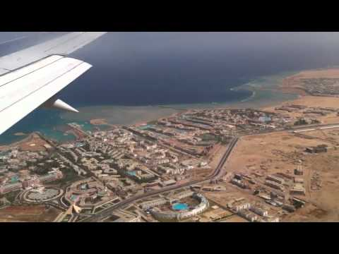 Landing at Hurghada airport