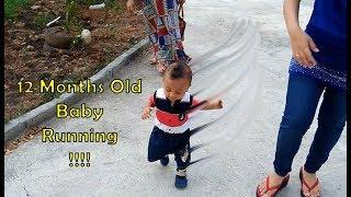 Bayi Reihan umur 12 Bulan sudah bisa Lari