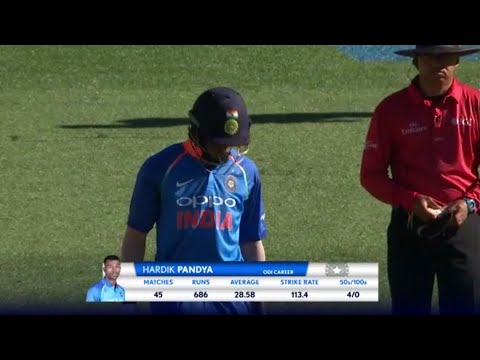 Hardik Pandya batting in 5 th ODI against  NZ 45 runs 22 balls in 2019