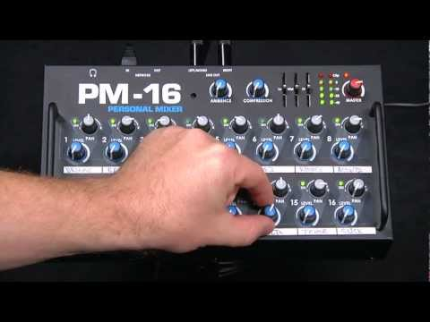 Audio Demonstration of Elite Core PM-16 Personal Monitor Mixer for Alto Vocal Singer