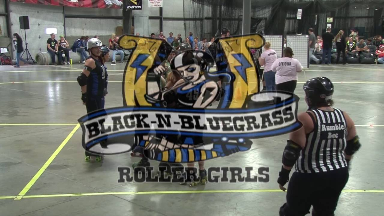 Black and bluegrass rollergirls, young nipslip girls