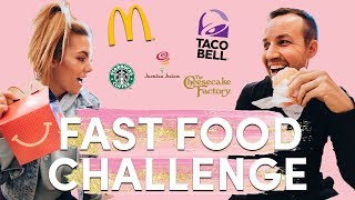 """""""Healthy"""" FAST FOOD Challenge! Full Day of Eating ONLY Fast Food VLOG"""