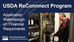 USDA ReConnect Program - Application Walkthrough on Financials