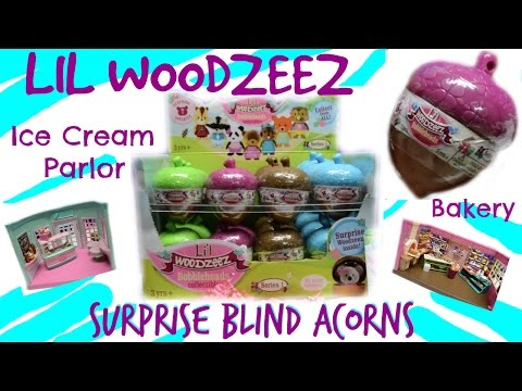 Lil Woodzeez ULTRA RARE Animal Surprise Blind Bag Acorns Ice Cream & Bakery Toy Unboxing Review