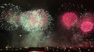 Испания (4К) Международный фестиваль фейерверков в Москве Братеевский каскадный парк 18 августа