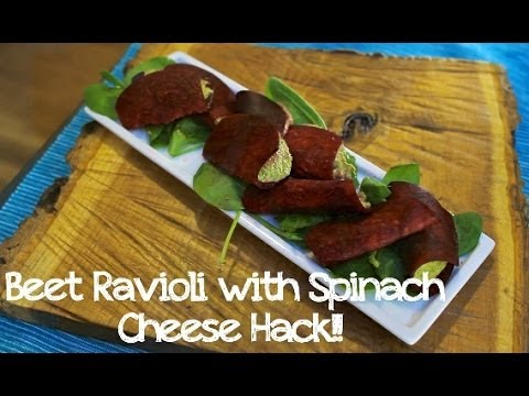 Beet Ravioli Hack!  (Gluten Free, Raw, Vegan)
