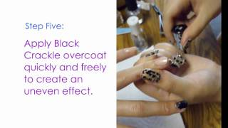 Black Crackle with Gold Glitter Nail Tutorial Thumbnail