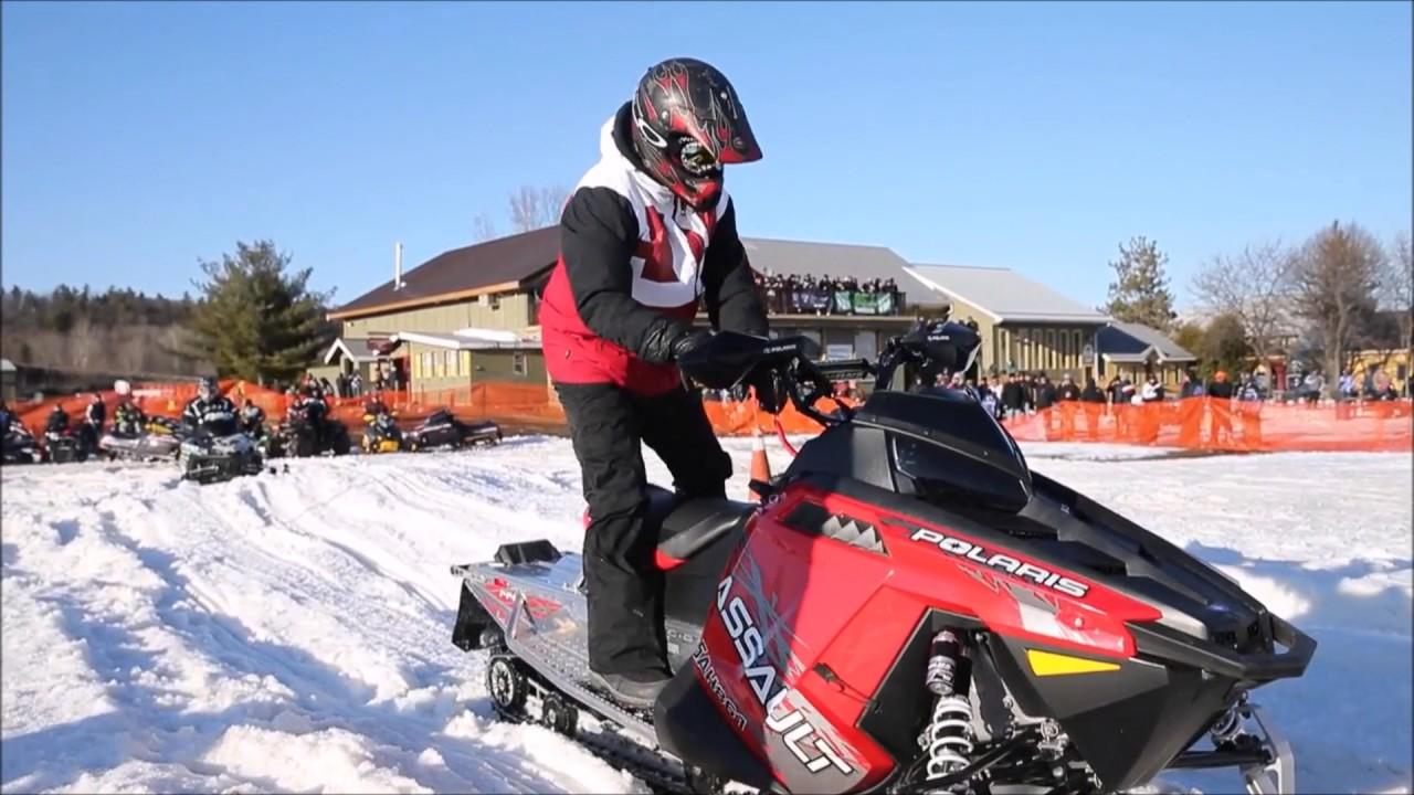 Snowmobile drag racing: Speeds can reach 150 mph