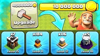 LOOK HOW MANY WE MAXED OUT!! - Clash Of Clans - THE FINAL FEW UPGRADES!