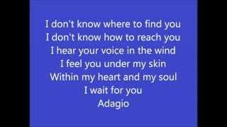 Lara Fabian Adagio English Version With Lyrics