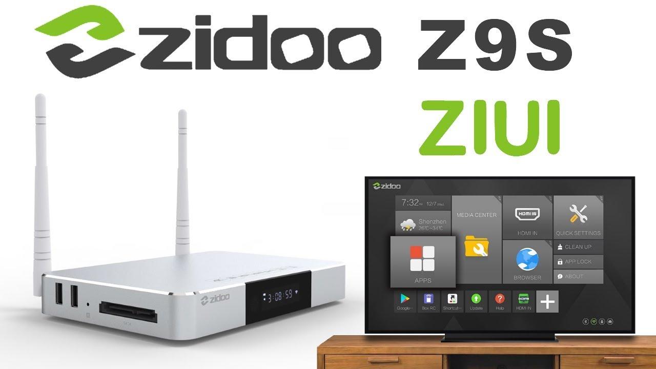 Zidoo Z9S Realtek RTD1296 Quad Core TV Box - Perfect 4K Playback