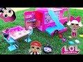 ЛОЛ сюрпризы на ПИКНИКЕ в Авто-домике! Куклы LOL SURPRISE Baby Dolls Мультик с игрушками для девочек
