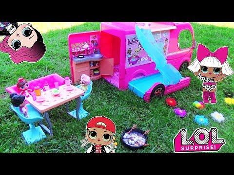 видео: ЛОЛ сюрпризы на ПИКНИКЕ в Авто-домике! Куклы lol surprise baby dolls Мультик с игрушками для девочек