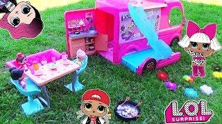 ЛОЛ сюрпризы на ПИКНИКЕ в Авто домике Куклы LOL SURPR SE Baby Dolls Мультик с игрушками для девочек