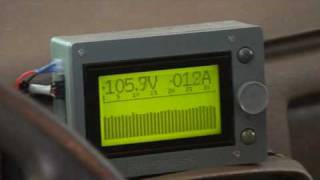 Electric Vehicle Battery Monitor LCD Display