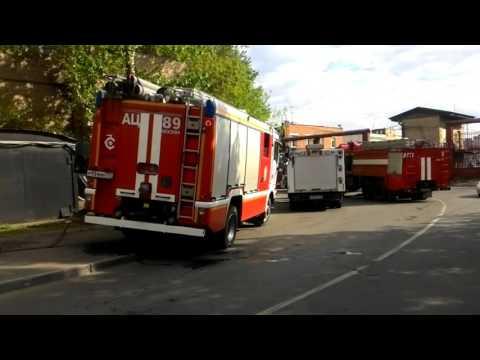 Пожар в автосервисе 2 вязовский переулок