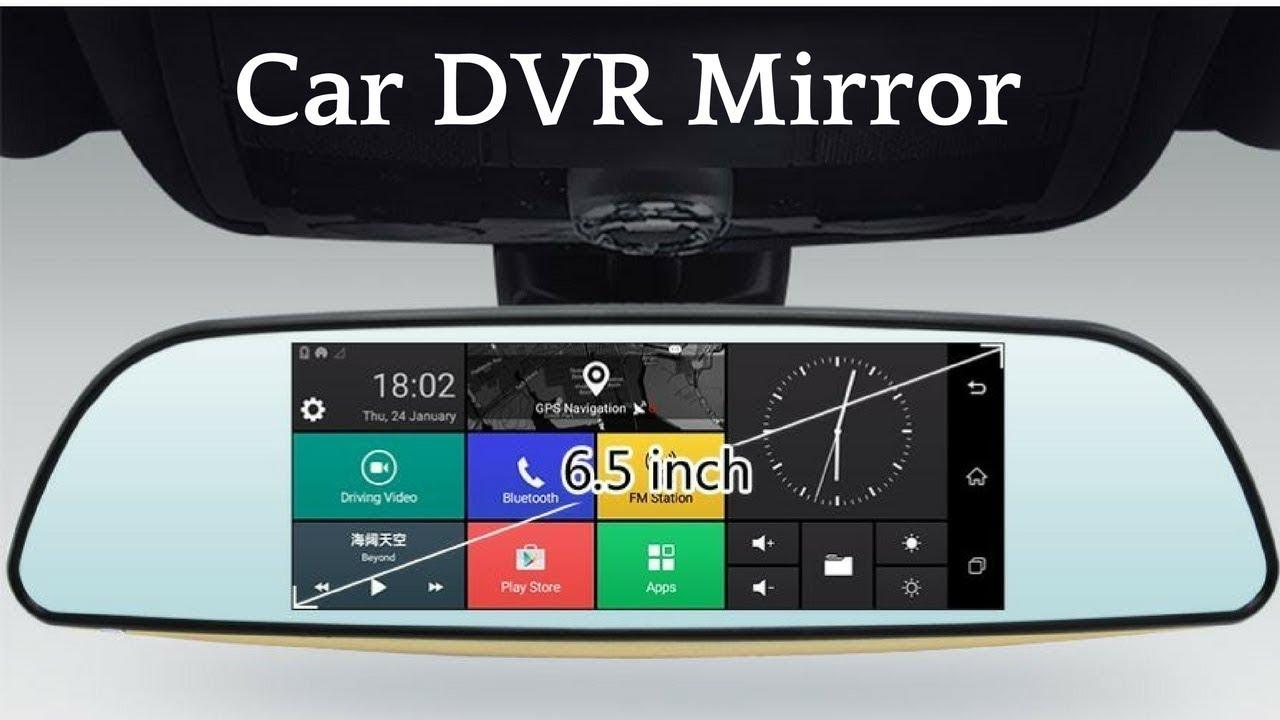 مرآة سيارة ذكية اندرويد مع كاميرا امامية وخلفية Gunsun E515 Youtube