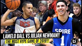 LaMelo Ball vs Julian Newman!!! The Most HYPED Game Of The Year!! SH*T GOT WILD!!