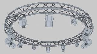 3D Model of Circle Square Truss 400cm-Stage Lights Review