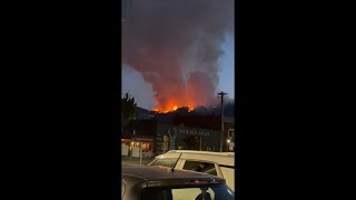 Orange Blazing Fires Caught on Camera From Nearby Town