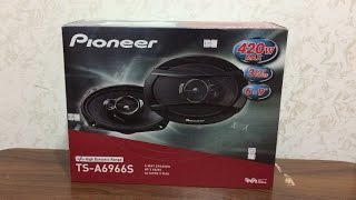 Pioneer TS-A6966S 420Watts 3-Way Car Speaker Unboxing and Installations