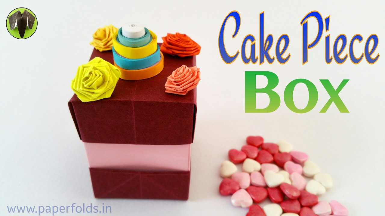 Origami tutorial to make a paper cake piece gift box youtube jeuxipadfo Choice Image